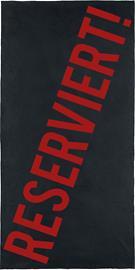 Reserviert! - - Kylpypyyhe - Unisex - Musta punainen