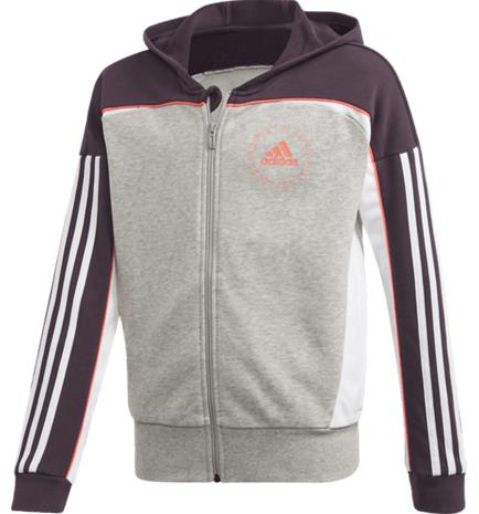 Adidas G BOLD FULL-ZIP HOODIE MEDIUM GREY HEATHE