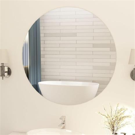 vidaXL Kehyksetön peili pyöreä 90 cm lasi