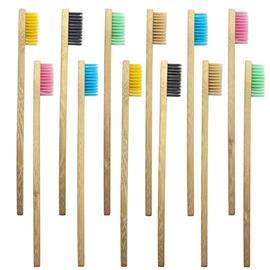 eStore 10x Hammasharja, Bambu - Eri Värejä