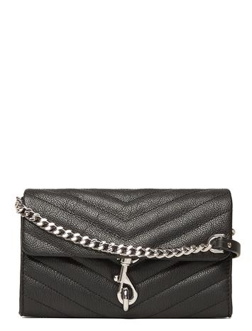 Rebecca Minkoff Edie Wallet On Chain Bags Small Shoulder Bags - Crossbody Bags Musta Rebecca Minkoff BLACK, Miesten laukut