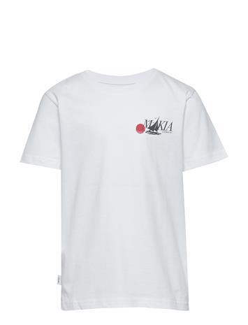 Makia Plattis T-Shirt T-shirts Short-sleeved Valkoinen Makia WHITE