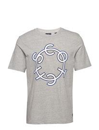 Scotch & Soda Scotch & Soda Crew Neck Logo Tee T-shirts Short-sleeved Harmaa Scotch & Soda GREY MELANGE