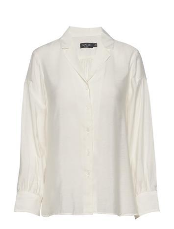 Soaked in Luxury Slperama Shirt Pitkähihainen Paita Valkoinen Soaked In Luxury WHISPER WHITE