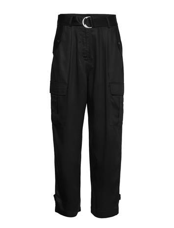 Soaked in Luxury Sllamia Pants Leveälahkeiset Housut Musta Soaked In Luxury BLACK