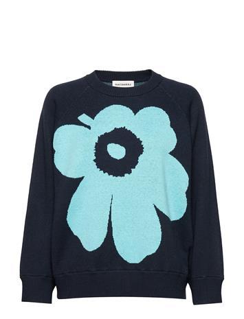 Marimekko Lohdukas Unikko Knitted Pullover Neulepaita Sininen Marimekko BLUE, TURQUOISE