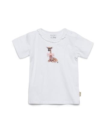 Hust & Claire Alesia - T-Shirt T-shirts Short-sleeved Valkoinen Hust & Claire WHITE