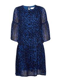 InWear Finnaiw Dress Polvipituinen Mekko Sininen InWear BLUE COLOURFUL LEO