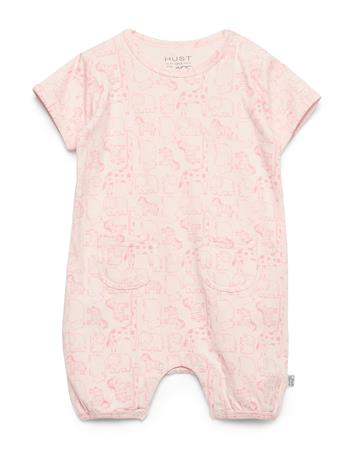 Hust & Claire Mali- Jumpsuit Bodysuits Short-sleeved Vaaleanpunainen Hust & Claire ROSEWATER