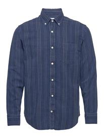 NN07 Levon Shirt 5139 Paita Rento Casual Sininen NN07 INDIGO STRIPE