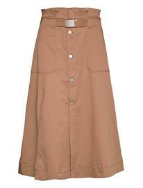 Hope Split Skirt Polvipituinen Hame Beige Hope BEIGE
