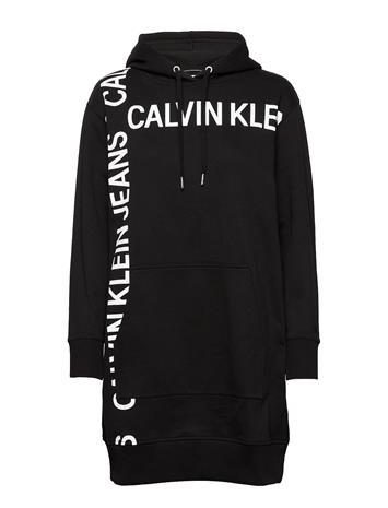 Calvin Klein Jeans Grid Logo Hooded Dress Huppari Musta Calvin Klein Jeans CK BLACK