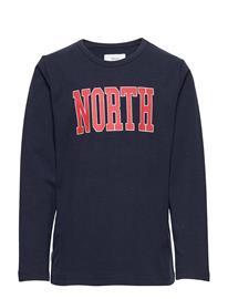 Makia North Long Sleeve T-shirts Long-sleeved T-shirts Sininen Makia DARK NAVY, Lastenvaatteet