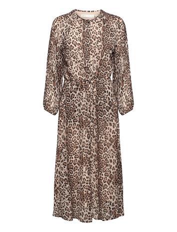 InWear Florizzaiw Dress Polvipituinen Mekko Ruskea InWear NATURAL LEO, Naisten hameet ja mekot