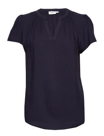Saint Tropez Brittasz Ss Top T-shirts & Tops Short-sleeved Sininen Saint Tropez BLUE DEEP