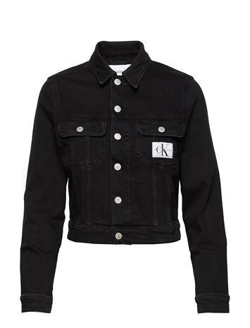 Calvin Klein Jeans 90s Crop Trucker Farkkutakki Denimtakki Musta Calvin Klein Jeans AB099 WASHED BLACK