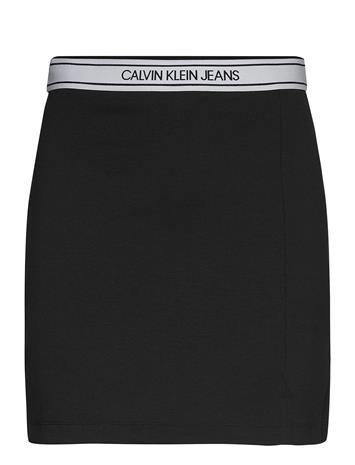 Calvin Klein Jeans Logo Elastic Milano Mini Skirt Lyhyt Hame Musta Calvin Klein Jeans CK BLACK