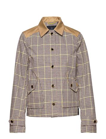 Scotch & Soda Workwear Jacket In Houndstooth Quality Outerwear Jackets Utility Jackets Monivärinen/Kuvioitu Scotch & Soda COMBO A