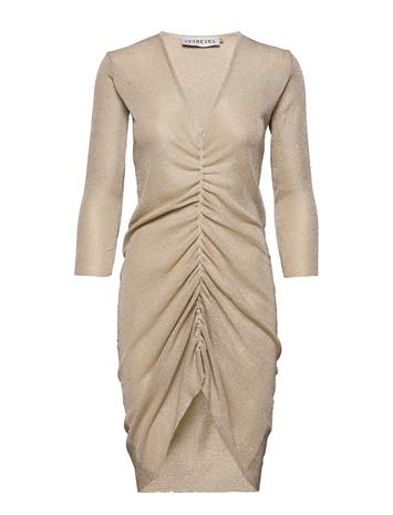 Ivyrevel Knitted Drawstring Lurex Dress Polvipituinen Mekko Kulta Ivyrevel LIGHT GOLD