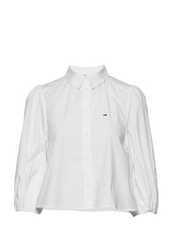 Tommy Jeans Tjw Puffy Sleeve Shirt Pitkähihainen Paita Valkoinen Tommy Jeans WHITE