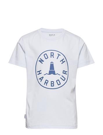 Makia Astern T-Shirt T-shirts Short-sleeved Valkoinen Makia LIGHT BLUE