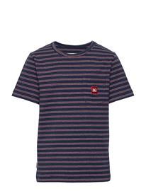 Makia Trek T-Shirt T-shirts Short-sleeved Sininen Makia DARK NAVY, Lastenvaatteet