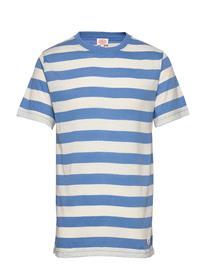 Armor Lux Block Colour T-Shirt T-shirts Short-sleeved Sininen Armor Lux LAPIS/NATURE