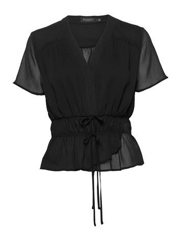 Soaked in Luxury Sldafni Blouse Ss Blouses Short-sleeved Musta Soaked In Luxury BLACK