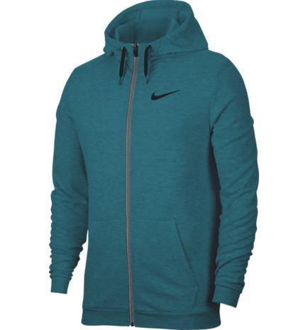 Nike M NK DRY HOODIE FZ FLEECE BRIGHT SPRUCE/HTR/