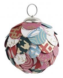 Nordal Joulukuusenpallo Paperi & Muovi Monivärinen Medium