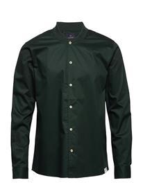 Scotch & Soda Long Sleeve Shirt With Bomber Collar Paita Rento Casual Vihreä Scotch & Soda LAGOON GREEN