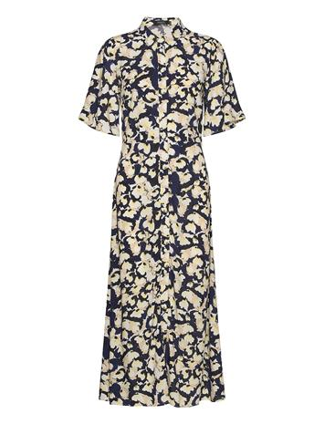 Soaked in Luxury Slrafina Shirt Dress Ss Polvipituinen Mekko Sininen Soaked In Luxury WATER FLOWER BLUE