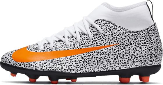 Nike JR MERCURIAL SUPERFLY 7 CLUB CR7 FG/MG WHITE/TOTAL ORANGE