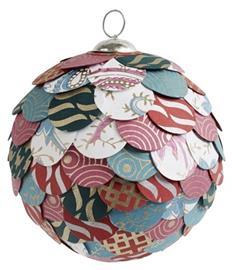 Nordal Joulukuusenpallo Paperi & Muovi Monivärinen Large