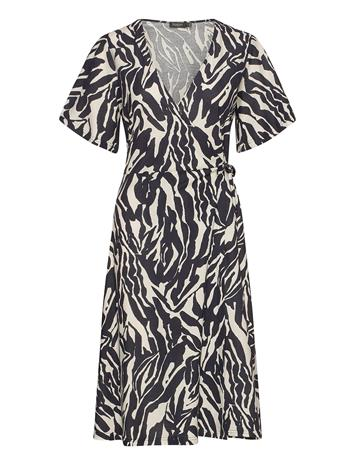 Soaked in Luxury Slsallie Dress Ss Polvipituinen Mekko Musta Soaked In Luxury ZEBRA STROKES