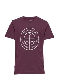 Makia Scope T-Shirt T-shirts Short-sleeved Punainen Makia WINE