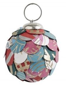 Nordal Joulukuusenpallo Paperi & Muovi Monivärinen Small