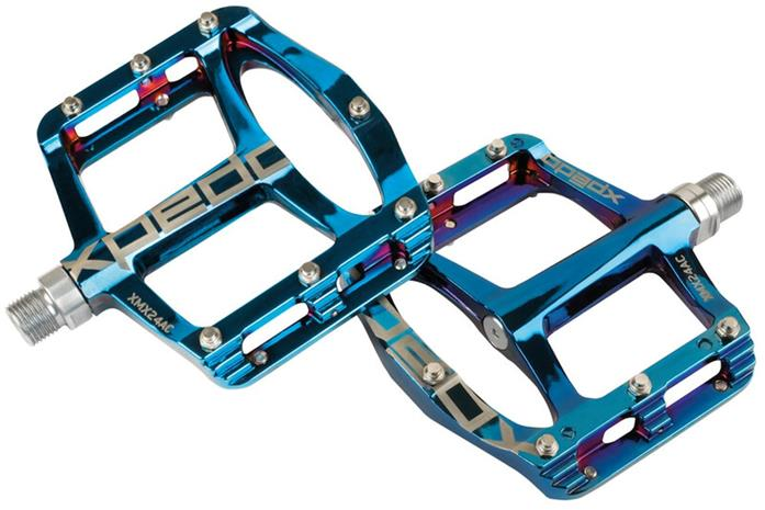 Xpedo Spry+ Pedals, blue ray
