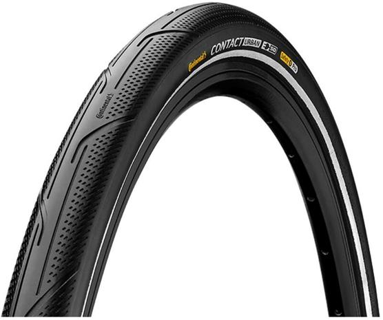 "Continental Contact Urban Clincher-rengas 28x1.50"""" Reflex E-50 SafetyPro, black/black"