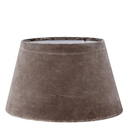 Lene Bjerre Lampunvarjostin Plain Velvet ä˜21,5cm Ruskea