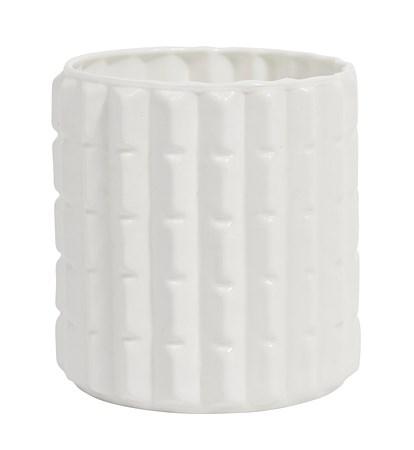 Nordal Opaali Maljakko Edgy 7 cm - Valkoinen