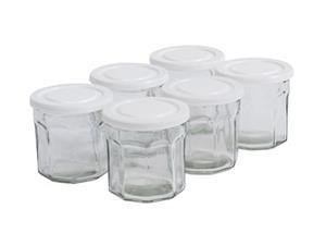Nordal Clear glass storage jar w. white lid
