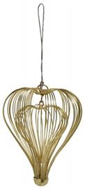 Nordal Two-in-one heart hanger, shiny gold