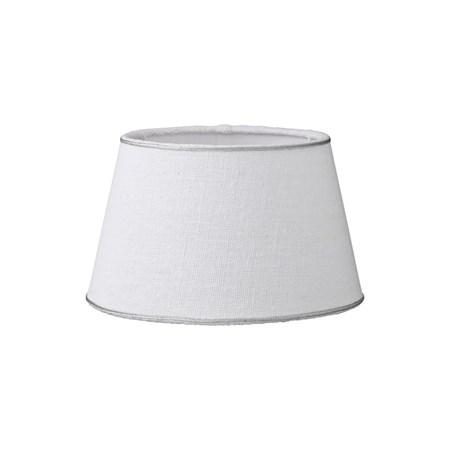 Lene Bjerre Lampunvarjostin Rustic Linen ä˜15cm Valkoinen