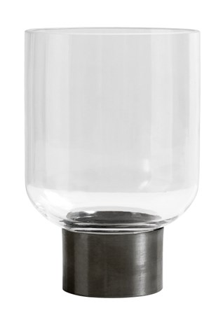 Nordal RING Deco vase, clear, iron base