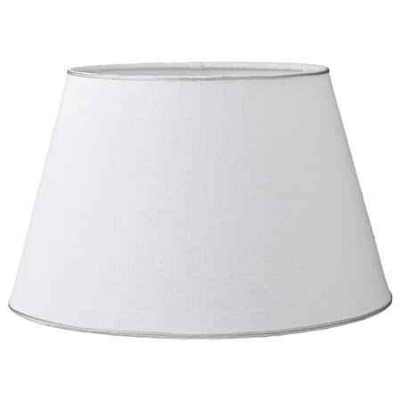 Lene Bjerre Lampunvarjostin Rustic Linen ä˜25cm Valkoinen