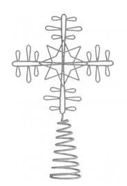 Nordal Latvatähti metalli Joulukuusi Hopea 32cm