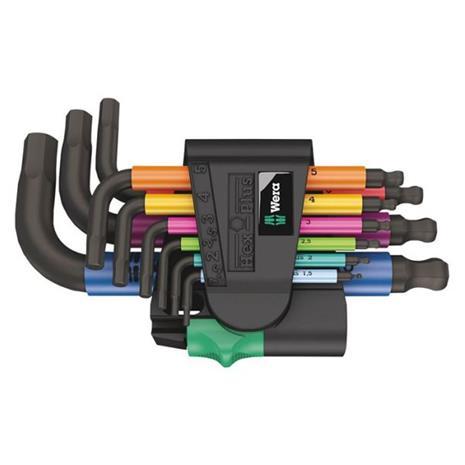 Wera 950/9 Hex-Plus Multicolour 2 Avainsarja kuusiokoloruuveille 9-osainen