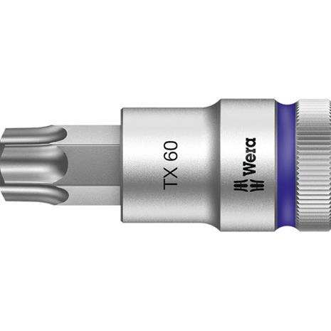 """Wera 8767 C HF Torx-hylsy 1/2"""""""" TX 60, 60 mm pitkä"""
