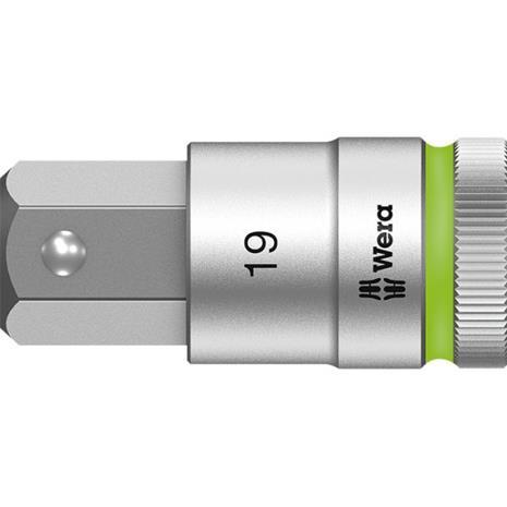 "Wera 8740 C HF Kuusiokolohylsy 1/2"""" 19 mm, pituus 60 mm"